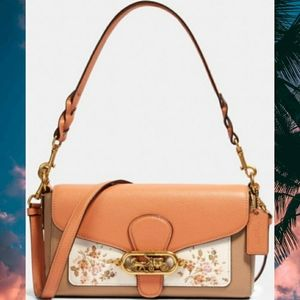 Coach Jade Shoulder Bag w/ Rose Bouquet  Print